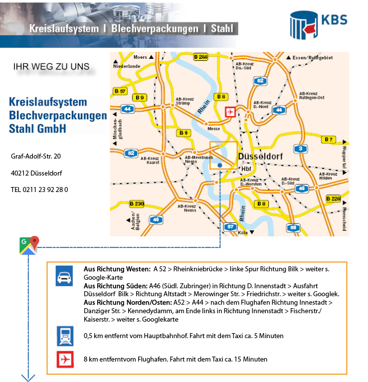 Anfahrtkarte KBS Recycling
