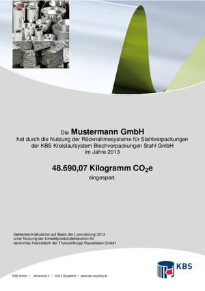 Klimaschutzzertifiat-Muster KBS